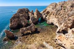 Ponta da Piedade. In Lagos, Algarve region in Portugal Stock Image