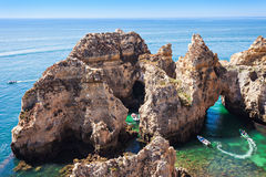 Ponta da Piedade Royalty Free Stock Photos