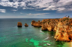 Ponta da Piedade in Lagos Royalty Free Stock Images