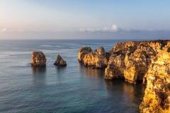 Ponta da Piedade in the morning light royalty free stock photos