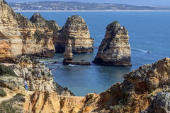 Ponta da Piedade near Lagos - Algarve - Portugal Stock Photo