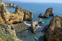 Ponta da Piedade near Lagos - Algarve - Portugal Royalty Free Stock Image
