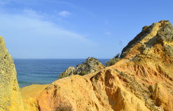Ponta Da Piedade, path to the top of spectacular rock formations Royalty Free Stock Image