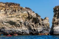 Ponta da Piedade rock formations Stock Photography