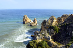 Ponta Da Piedade spectacular rock formation in Portugal Stock Image