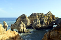 Ponta Da Piedade spectacular rock formation Royalty Free Stock Photos