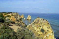 Ponta Da Piedade spectacular rock formation in Portugal Royalty Free Stock Photo