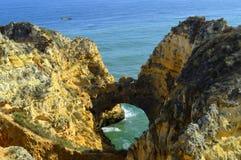 Ponta Da Piedade spectacular rock formation in Portugal Stock Photo