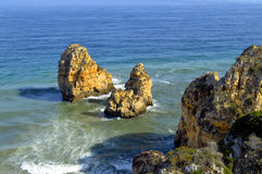 Ponta Da Piedade spectacular rock formation Stock Images