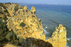 Ponta Da Piedade spectacular rock formations Royalty Free Stock Photography