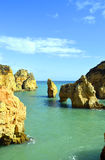 Ponta Da Piedade spectacular rock formations Royalty Free Stock Photography