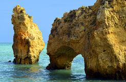 Ponta Da Piedade spectacular rock formations Royalty Free Stock Images