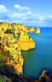 Ponta Da Piedade spektakularne rockowe formacje Zdjęcia Royalty Free