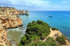 Ponta da Piedade udde Lagos, Algarve, Portugal Fotografering för Bildbyråer