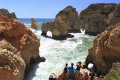 Ponta da Piedale, Algarve area in Portugal Royalty Free Stock Photo
