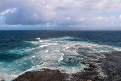 Ponta das加拉加斯-费尔南多・迪诺罗尼亚群岛, Pernambuco,巴西 免版税库存图片