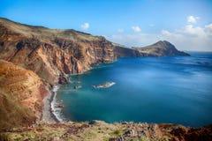 Ponta de圣洛伦索-马德拉岛,葡萄牙 库存图片