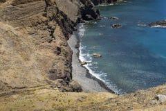 Ponta de圣洛伦索,马德拉岛海岛, Portu的东部 免版税库存照片