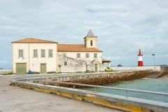 Ponta de Humaita. Lighthouse in the baia de todos os santos Stock Image