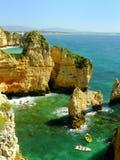 Ponta de Piedade en región de Lagos, Algarve, Portugal Imágenes de archivo libres de regalías
