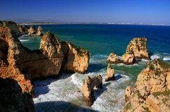 Ponta de Piedade in Lagos, Algarve region, Portugal Royalty Free Stock Photos