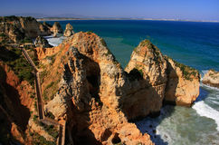 Ponta de Piedade in Lagos, Algarve region, Portugal Stock Images
