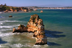 Ponta de Piedade in Lagos, Algarve region, Portugal Royalty Free Stock Photography