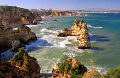 Ponta de Piedade in Lagos, Algarve region, Portugal Royalty Free Stock Photo