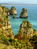 Ponta de Piedade in Lagos, Algarve region, Portugal Royalty Free Stock Images