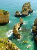 Ponta de Piedade in Lagos, Algarve region, Portugal Royalty Free Stock Photos