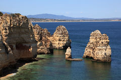 Ponta de Piedade in Lagos, Portugal Royalty Free Stock Images