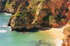 Ponta de Piedade região em Lagos, o Algarve, Portugal Foto de Stock Royalty Free