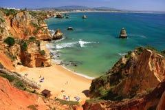 Ponta de Piedade região em Lagos, o Algarve, Portugal Imagens de Stock Royalty Free