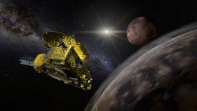 Ponta de prova de espaço de New Horizons - demonstração aérea do Plutão Fotografia de Stock
