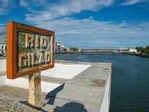 Ponta de Romana au-dessus de rivière de Gilao dans Tavira, Algarve portugal Photos libres de droits
