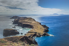 Ponta de Sao Lourenco, the eastern part of Madeira Island, Portu Royalty Free Stock Photography