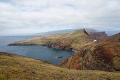 Ponta de Sao Lourenco, the easternmost part of Madeira Island. On cloudy day Royalty Free Stock Photos