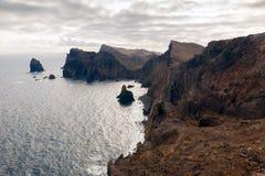 Ponta de Sao Lourenco, la partie située le plus à l'est de l'île de la Madère Photo stock