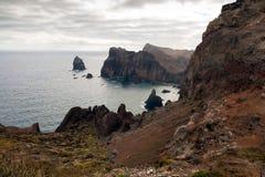 Ponta de Sao Lourenco, la partie située le plus à l'est de l'île de la Madère Images libres de droits