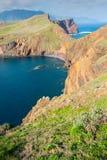 Ponta de Sao Lourenco, a parte easternmost da ilha de Madeira Foto de Stock Royalty Free