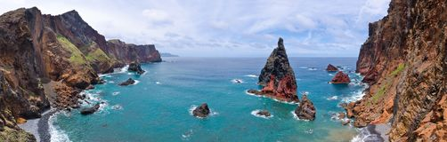 Ponta DE Sao Lourenco schiereiland, MadRocks van Ponta DE Sao Lourenco schiereiland - het eiland van Madera stock afbeelding