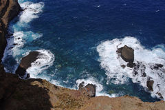 Ponta de Sao Lourenco the view of abyss , Madeira royalty free stock image