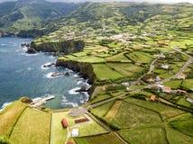 Ponta Delgada天线镇  免版税库存照片