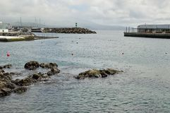 Ponta Delgada小游艇船坞 免版税库存照片
