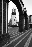 Ponta Delgada,亚速尔群岛、葡萄牙-波塔斯角da Cidade & x28; 对City& x29的门; 库存照片