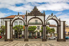 Ponta Delgada,亚速尔群岛- 5月05,2017 :波塔斯角da Cidade -城市Gat 库存图片