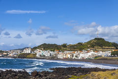 Ponta Delgada and Atlantic coast on Sao Miguel island, Azores, P Stock Image