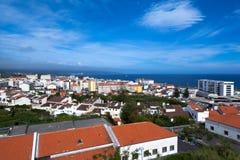 Ponta Delgada. Aussicht über Ponta del Gada auf St. Miguel auf den Azoen Royalty Free Stock Photo
