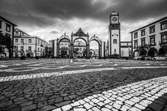 Ponta Delgada, Azoren, Portugal - 20. April 2015: Portas DA Cida Lizenzfreies Stockfoto