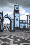 Ponta Delgada, Azoren, Portugal - 20. April 2015: Portas DA Cida Lizenzfreies Stockbild